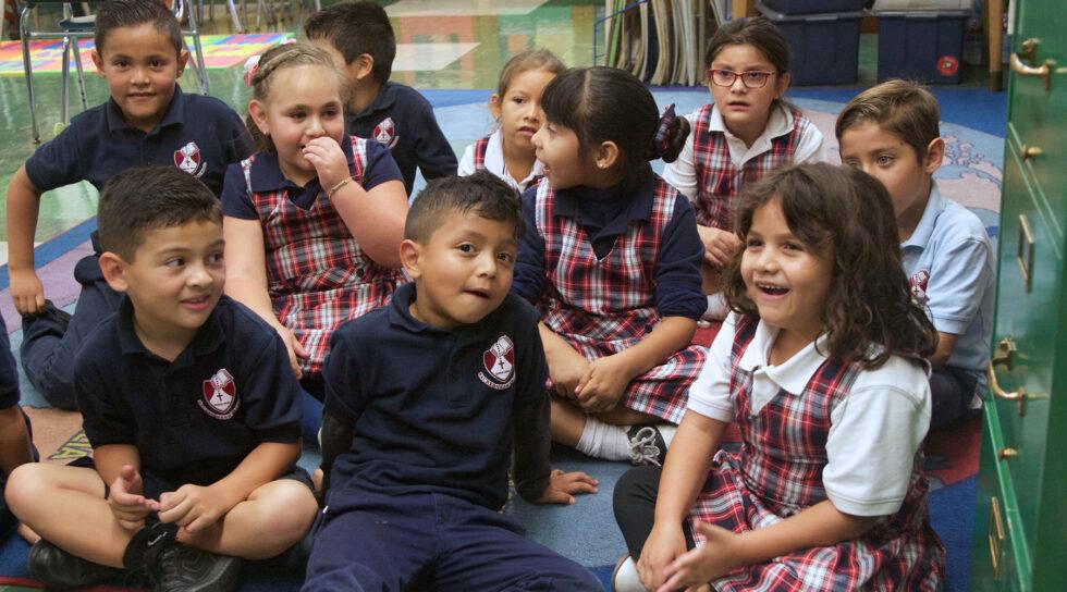 young students at Sacred Heart