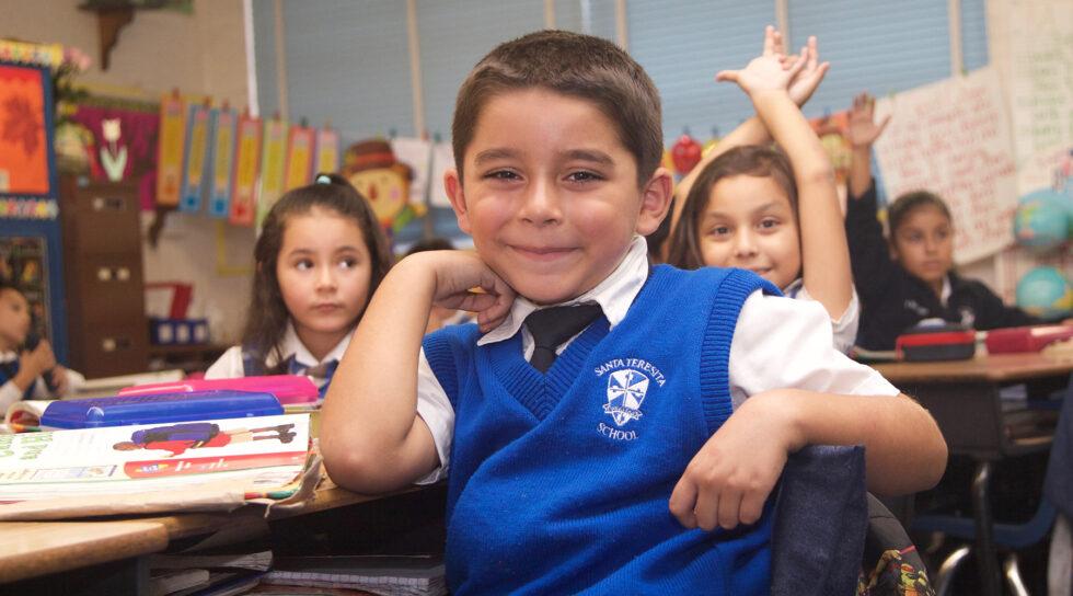 photo of students at Santa Teresita school