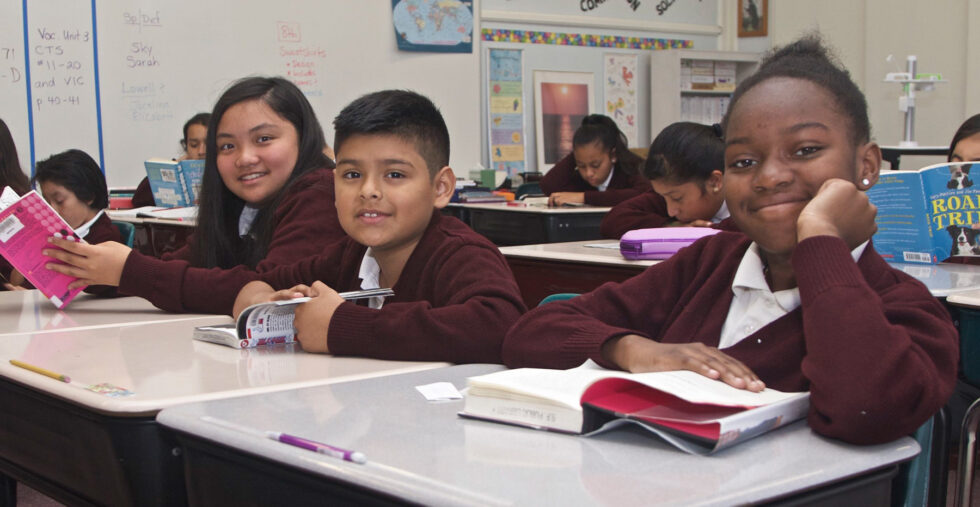 photo of 3 students at St. Anthony - Immacualte Conception school