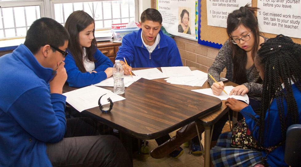 photo of St. Elizabeth students studying together