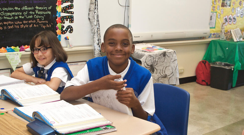 photo of student at St. Frances X. Cabrini school