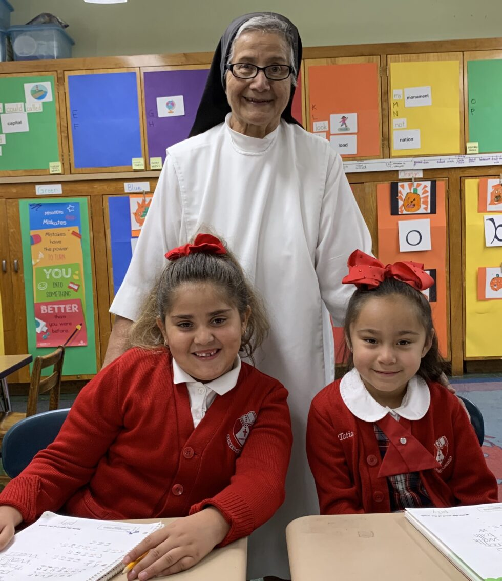 Sacred Heart Students and Teacher