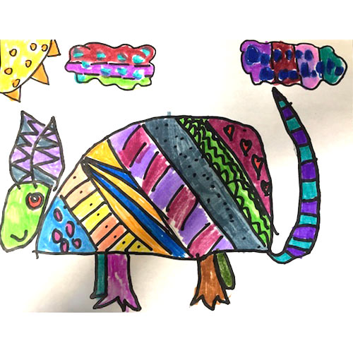 Oaxacan Armadillo painting by St. Michael student